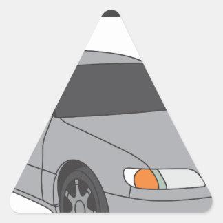 Aristo de plata pegatina triangular