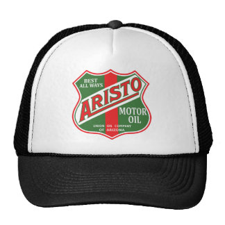 Aristo motor oil vintage sign reproduction trucker hat