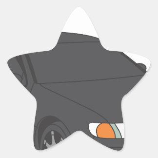 Aristo trasero pegatina en forma de estrella