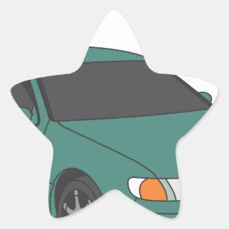 Aristo verde pegatina en forma de estrella