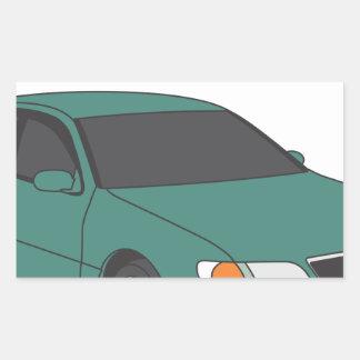 Aristo verde pegatina rectangular