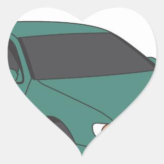 Aristo verde pegatina en forma de corazón