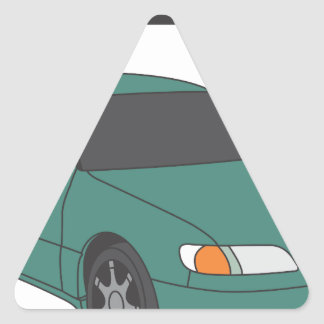 Aristo verde pegatina triangular
