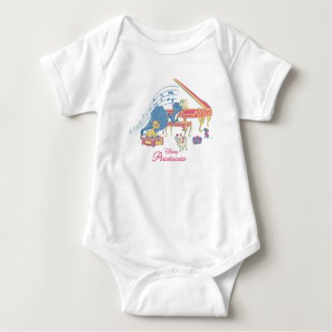 Disney Themed Aristocats at the Piano Baby Bodysuit