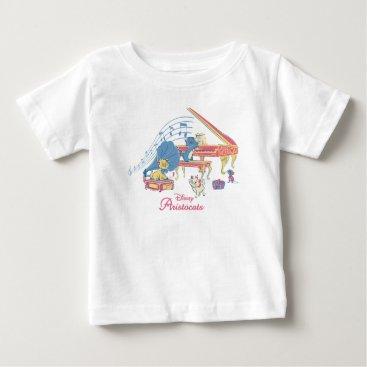 Disney Themed Aristocats at the Piano Baby T-Shirt