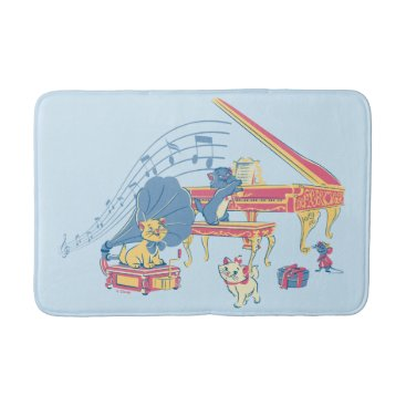 Disney Themed Aristocats at the Piano Bath Mat