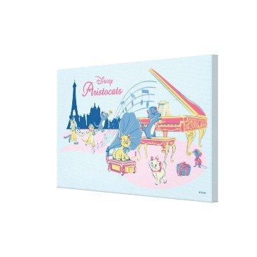 Disney Themed Aristocats at the Piano Canvas Print