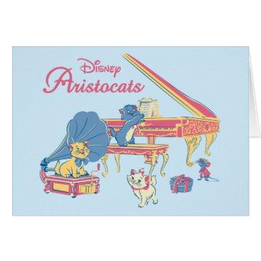 Disney Themed Aristocats at the Piano Card