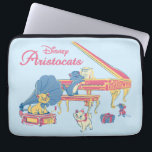 """Aristocats at the Piano Laptop Sleeve<br><div class=""""desc"""">The Aristocats at the piano in a pretty pastel scene.</div>"""