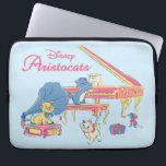 "Aristocats at the Piano Laptop Sleeve<br><div class=""desc"">The Aristocats at the piano in a pretty pastel scene.</div>"