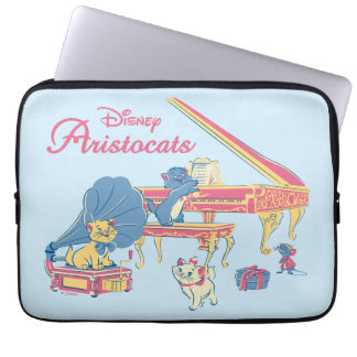 Aristocats at the Piano Laptop Sleeve