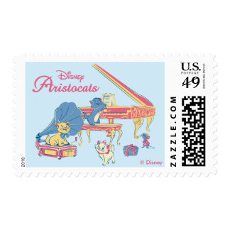 Aristocats at the Piano Postage