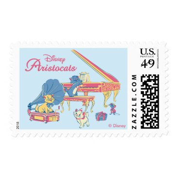 Disney Themed Aristocats at the Piano Postage