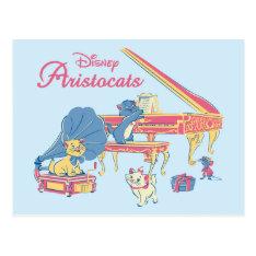 Aristocats At The Piano Postcard at Zazzle