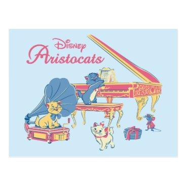 Disney Themed Aristocats at the Piano Postcard