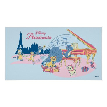 Disney Themed Aristocats at the Piano Poster