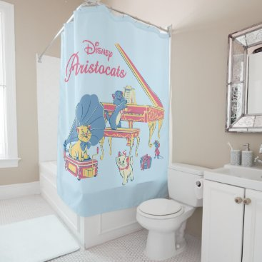 Disney Themed Aristocats at the Piano Shower Curtain