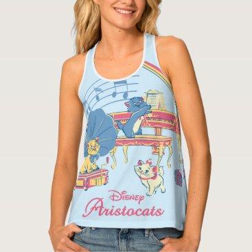 Disney Themed Aristocats at the Piano Tank Top