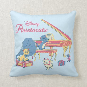 Disney Themed Aristocats at the Piano Throw Pillow