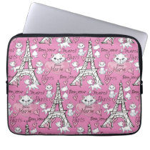 Aristocats | Marie Paris Pattern Laptop Sleeve