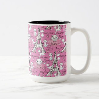 Aristocats   Marie Paris Pattern Two-Tone Coffee Mug