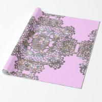 Aristocratic Monogram Pink Wrapping Paper