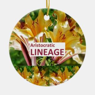 AristocraticLINEAGE : Secret fun PHRASE Code Ceramic Ornament