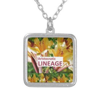 AristocraticLINEAGE : Secret fun PHRASE Code Custom Necklace