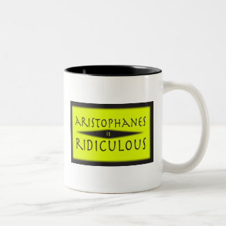 Aristófanes es ridículo tazas de café