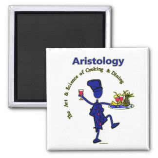 Aristology Gourmet Art of Cooking 2 Inch Square Magnet