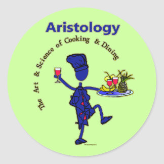 Aristology Gourmet Art of Cooking Classic Round Sticker