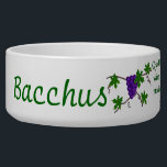 """Aristophanes Wine Quote Bowl<br><div class=""""desc"""">Cluster of purple grapes illustrates Aristophanes quote about wine: &quot;Quickly, bring me a beaker of wine so that I may wet my mind and say something clever.&quot;</div>"""