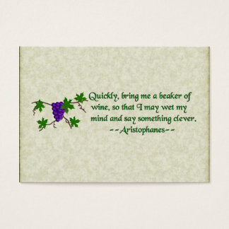Aristophanes Wine Quote Business Card