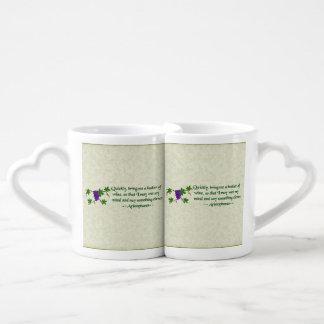 Aristophanes Wine Quote Coffee Mug Set
