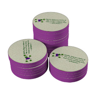 Aristophanes Wine Quote Set Of Poker Chips