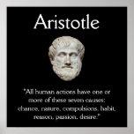 Aristóteles - cita de la conducta humana poster
