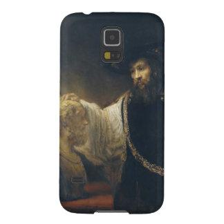 Aristóteles con un busto del home run de Rembrandt Fundas De Galaxy S5