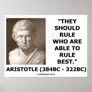 Aristóteles deben gobernar quién son regla capaz m impresiones