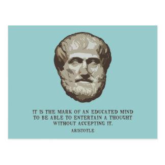 Aristóteles educaba mente postal