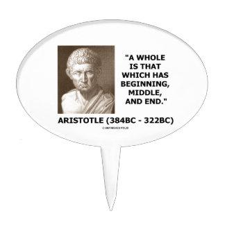 Aristóteles entero que tiene extremo medio que decoración para tarta