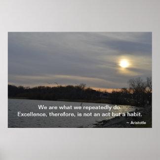Aristóteles - excelencia póster
