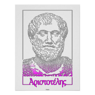 Aristóteles. Filósofo griego [015] Póster