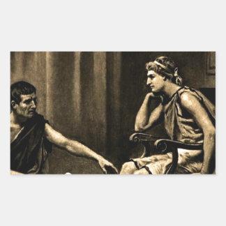 Aristóteles Pegatina Rectangular