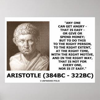 Aristóteles puede conseguir manera correcta enojad poster