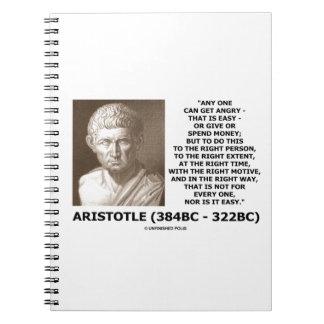 Aristóteles puede conseguir tiempo correcto libreta espiral