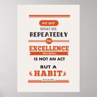 Aristóteles somos lo que lo hacemos en varias ocas impresiones
