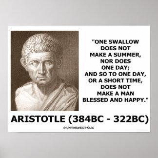 Aristóteles un trago no hace un verano posters