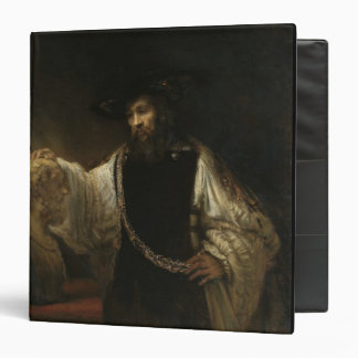 Aristotle (384-322 BC) with a Bust of Homer 3 Ring Binder