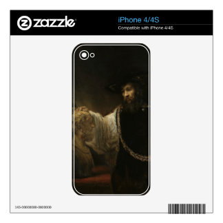 Aristotle (384-322 BC) with a Bust of Homer iPhone 4 Decal