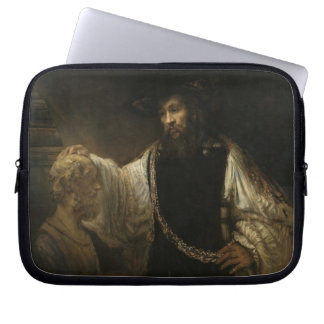 Aristotle (384-322 BC) with a Bust of Homer Laptop Sleeves